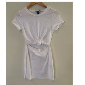 Forever 21 knot front T-shirt dress size small